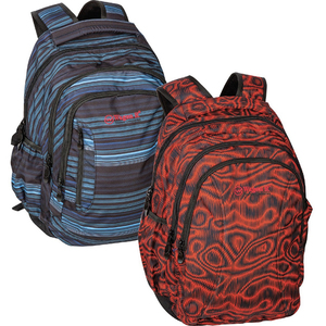 Wagon-R Printed Backpack B1805 19inch Red Color 1Piece