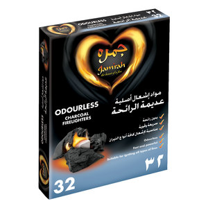 Jamrah Odorless Charcoal Fire Lighters 32pcs