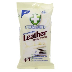 Green Shield Conditioning Leather Surface Wipes 50pcs
