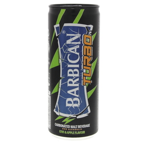 Barbican Turbo Kiwi & Apple Flavour Non Alcoholic Malt Beverage 250ml