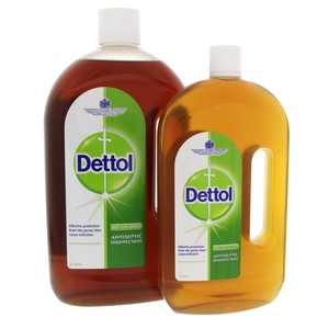 Dettol Anti Bacterial Antiseptic Disinfectant Original 2Litre + 1Litre