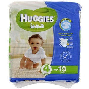 Huggies Size 4 Large 7-18 Kg 19 Diapers