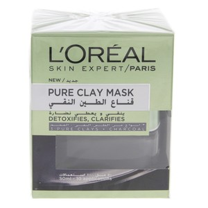 Loreal Skin Expert Pure Clay Mask with Charcoal 50ml