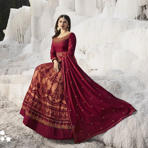 Semi Stitched Women's Gown Suit Vinay Kaseesh Supreme 8525