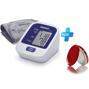 Omron Blood Pressure Monitor M2 Basic + Powerbank with LED Mirror