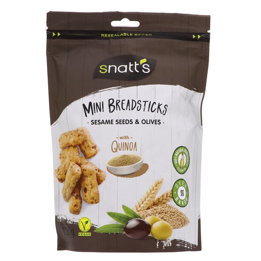 Buy Snatt's Mini Breadsticks Sesame Seeds And Olive With Quinoa 120g