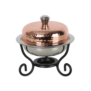 Chefline Copper Mini Round Chefing Dish 100ml 84450C