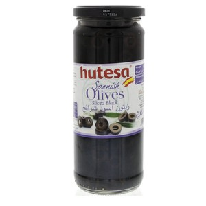 Hutesa Spanish Olives Sliced Black 230g