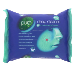 Pure Deep Cleanse Complete Cleaning Wipes 25Pcs