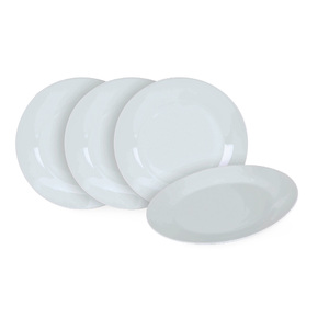 Home Dinner Plate White 10.5inch 4pcs