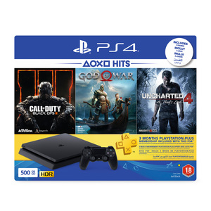 Sony PS4 Console 500GB +Call Of Duty +God Of War + Uncharted 4 + 3Month Playsation Plus Membership