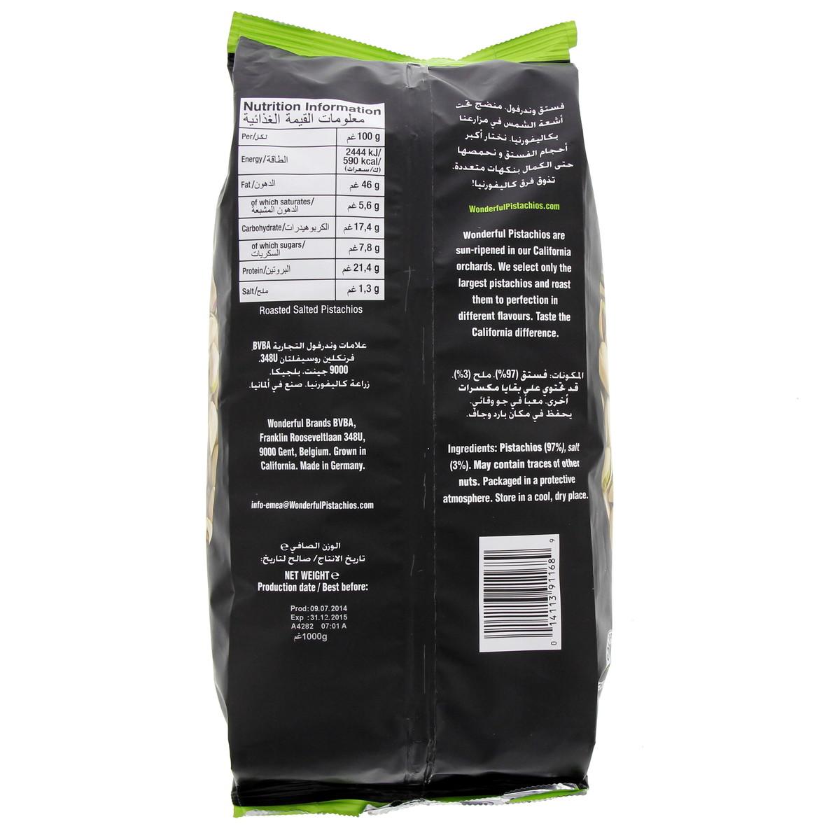 Buy Wonderful Pistachios Roasted & Salted 1kg - Nuts