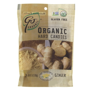 Go Organic Hard Candies with Ginger flavor 100g
