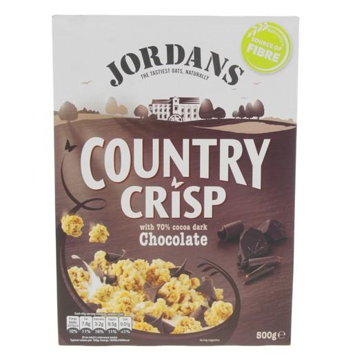 Buy Jordan's Country Crisp With Cocoa Chocolate 500g - Muesli - Lulu
