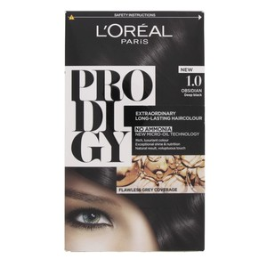 L'Oreal Prodigy Hair Color Obsidian 1.0 1 Packet