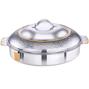 Rathore Stainless Steel Hot Pot Zara Dome Oval 5Ltr