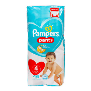 Pampers Diaper Pants Value Pack Size 4 9-14kg 46 Count