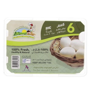 Abu Dhabi White Eggs Large 6pcs