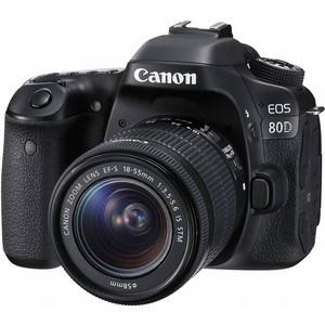 Canon DSLR Camera EOS 80D 18-55mm Lens