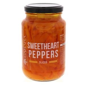 Carara Sweetheart Peppers Sliced 430g