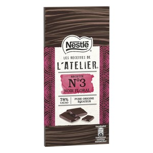 Nestle L'Atelier Dark Chocolate 78% Cocoa 100g