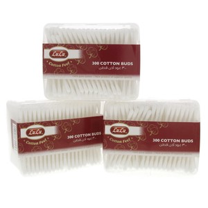 Lulu Cotton Buds 3 x 300's