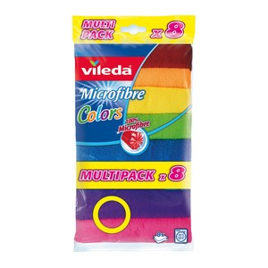 Vileda Microfibre Colors All Purpose Cloth 8 pcs