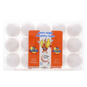 Saha White Eggs Large 15pcs