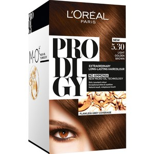 Loreal Prodigy Extra Ordinary Long Lasting Hair Colour Gold Brown 5.3 1 Packet