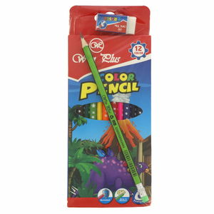 Win Plus Color Pencil 12's + HB Pencil 1 + Eraser 1 KR971273-1