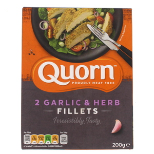 Quorn 2 Garlic And Herbs Fillets 200g