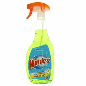 Windex Streak Free Shine Glass Cleaner Lime 750ml