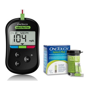 One Touch Select Plus Flex Glucose Monitor + 2 Strip Boxes