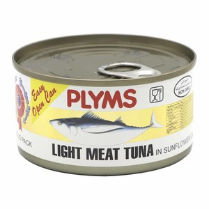 Plyms Light Meat Tuna In Sunflower Oil 185g