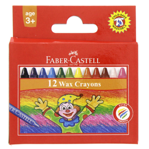 Faber-Castell Wax Crayons 12 Pieces
