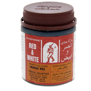 Red & White Food Colour Orange Red 100 Gm