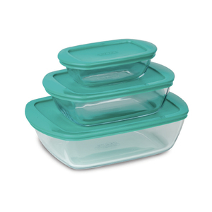 Pyrex Rectangular Roaster Set 3pcs + Lid