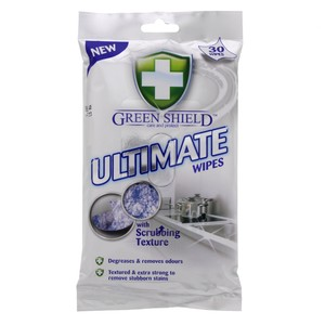 Green Shield Ultimate Wipes with Scrubbing Texture 30pcs