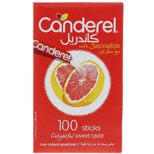 Canderel Low Calorie Sweetener With Sucralose 100 Sticks
