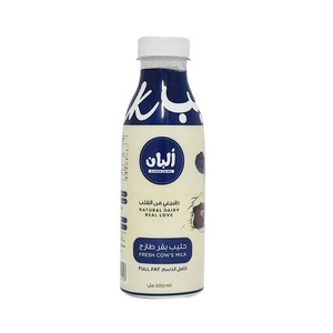 Alban Fresh Cow's Milk Full Fat 500ml