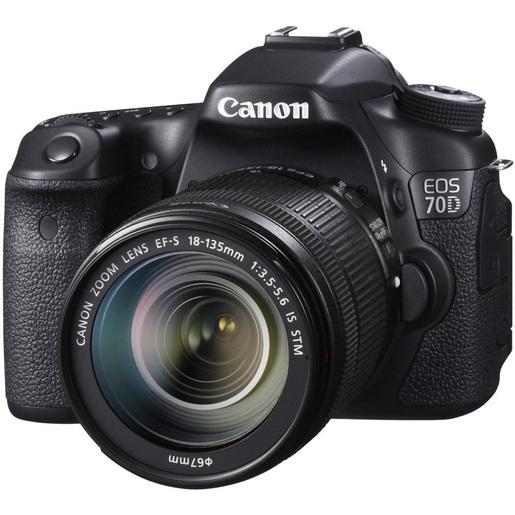 Buy Canon SLR Camera EOS 70D 18-135 Black - SLR Camera - Lulu