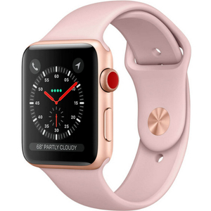 Apple Watch Series 3 (GPS + Cellular) MQKH2 Gold Aluminum Case with Pink Sand Sport Band 38mm