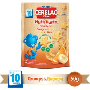 Nestle® CERELAC® NutriPuffs™ from 10 Months Orange and Banana 50g