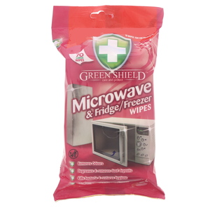 Green Shield Microwave And Fridge Wipes 70Pcs