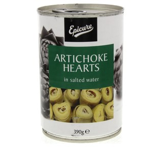 Epicure Artichoke Hearts In Salt Water 390g