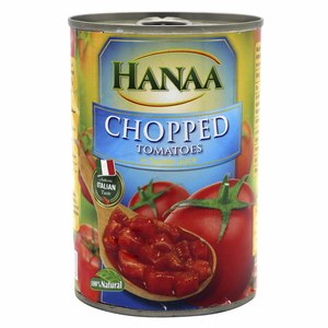 Hanaa Chopped Tomatoes In Tomato Juice 400g
