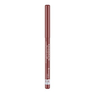 Rimmel London Exaggerate Automatic Lip Liner - Addiction A Natural Rosy-Plum Shade 1pc