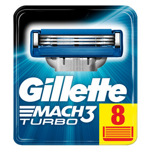 Gillette Mach3 Turbo Men's Razor Blade Refills 8pcs