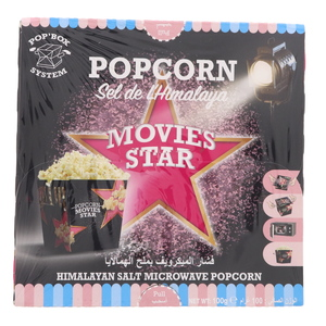 Movies Star Himalayan Salt Microwave Popcorn 100g