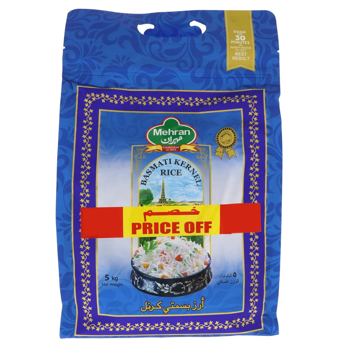 Buy Mehran Basmati Kernel Rice 5kg - Basmati - Lulu Webstore